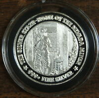 1985 The Silver State Home of the Nevada Miner, .999 Silver 1oz Proof Medal