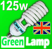 125w Blue Spectrum 6400k CFL grow light lamp bulb E27