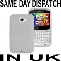 WHITE SILICONE CASE COVER SKIN FOR HTC CHACHA CHA CHA