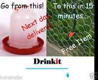 NEW chicken,poultry,waterer feeder drinker,increase egg