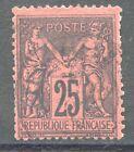 TIMBRE DE FRANCE OBLITERE TYPE SAGE N° 91 COTE 25 €
