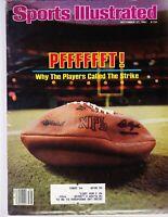 September 27, 1982 NFL Football Strike Sports Illustrated