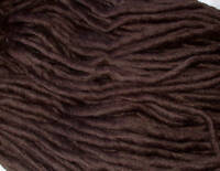 Pencil Yarn, 100% Wool MOCHA dreads felting dolls hair dreadmaking brown 4m