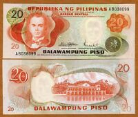 Philippines, 20 Piso, ND (1970) P-150, First Issue, UNC