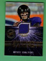 2011 PRESS PASS GIRDIRON GAMERS ANDY DALTON JERSEY 57/99