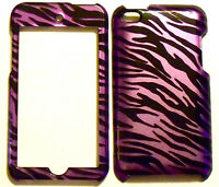 Purple Zebra Apple ipod iTouch Touch 4 4G Faceplate Protector Cover Case Snap On