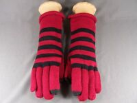 Red Black Smart Tips phone touchscreen compatible knit winter gloves womens
