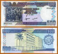 Burundi, 500 Francs, 2007, P-38 (38d), UNC   large size issue