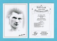 JF SPORTING - FOOTBALLER CARD 1919-39 -  LES LIEVESLEY  OF  MANCHESTER  UNITED