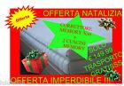 TOPPER CORRETTORE PER SOPRA MATERASSI MEMORY FOAM + 2 CUSCINI MATRIMONIALE VISCO