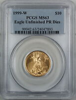 1999-W $10 American Gold Eagle, PCGS MS-63 Emergency Issue *Better Coin*