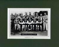 MOUNTED FOOTBALL TEAM PRINT - WIMBLEDON - 1936