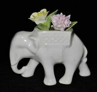 Coalport Elephant Figurine with Delicate Flowers