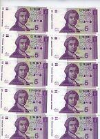 LOT Croatia, 10 x 5 Dinara, 1991, Pick 17, UNC