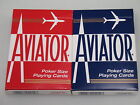 2 Decks Aviator Poker Regular Index Playing Cards 1 red 1 blue Bicycle new game