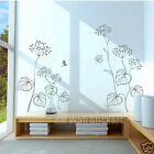TRENDY BLACK FLORAL Wall Sticker give a delicacy touch to your interior design