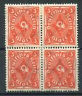 STAMP / TIMBRE ALLEMAGNE GERMANY DEUTFCHES REICH BLOC DE 4 N° 197 *