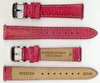 Invicta Genuine Ladies 16mm Pink Ostrich Leather Watch Strap IS449 BRAND NEW!!
