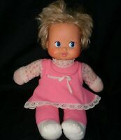 VINTAGE IDEAL TOY CORP 1980 BLONDE DOLL GIRL PINK OUTFIT EYES & HEAD MOVE RARE M