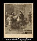 GARIBALDI A POSILLIPO STAMPA ORIGINALE 1800