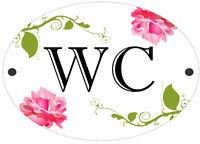 WC | Bathroom | Toilet | Male | Female Shabby Chic Door Sign | Plaque
