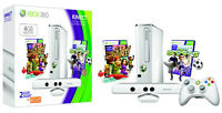 Xbox 360 4GB White Kinect Console Bundle+ 2 Games *NEW*