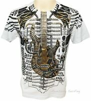 ARTFUL COUTURE ROCK GUITAR TATTOO T-SHIRT Sz M L XL HEAVY METAL PUNK STREET WEAR