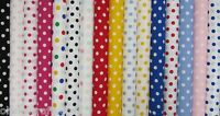 22mm Polka Dots Spots 112cm Wide 100% Cotton Poplin Fabric