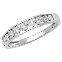 9ct White Gold 10pt Diamond 9 Stone Illusion Set Eternity Ring *RD537W