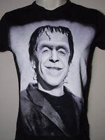 New Gothic Horror Goth Rock Rebel Herman Munster Portrait Girly Black T Shirt