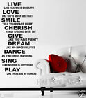 BE INSPIRED QUOTE WALL ART DECAL for your home or business