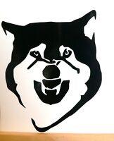 adesivo lupo cane lupo wolf wall sticker decal vynil vinile ritagliato auto moto