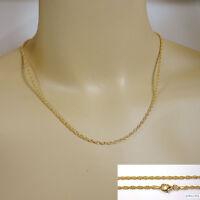 Silberkette, Halskette, Kordelkette, Silber 925, VERGOLDET 24 C, 40-90 cm/2,1 mm