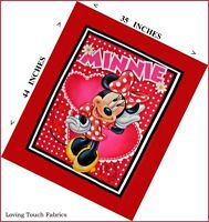 Retro Disney Mickey Mouse Cartoon Wall Hanging Quilt