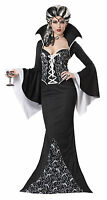 ADULT LADIES ROYAL VAMPIRESS FANCY DRESS COSTUME VAMPIRE BLACK HALLOWEEN OUTFIT