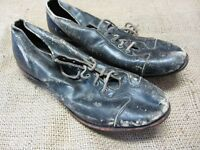 Vintage Leather Baseball Shoes > Old Antique Football Cleats Sports Ball 7299