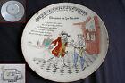 ancienne assiette parlante en faïence marque au tampon G.D Paris De La Palisse