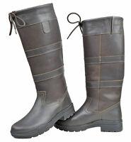HKM Belmond Winter Riding Yard Boots Cosy Warm Brown Unisex