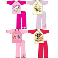 Kids Girls Cartoon Character 100% Cotton Long Sleeve Top Night Wear PJ Pyjama