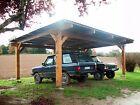 Carport 2 voitures bois charpente monopente plaques bitumes 6.00 x 5.50 mètres