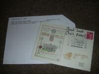Chris NICHOLL Northern Ireland & Aston Villa Original HAND SIGNED Football FDC