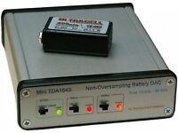 Non-Oversampling DAC TDA1543 DIR9001 96kHz SPDIF Coax Optical & 9V NiMH charger