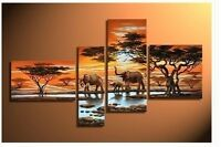 Modern Abstract Huge Wall Art Oil Painting On Canvas:Elephant +GIFT
