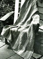Vintage knitting pattern-how to make a lace stitch afghan,afgan,throw,blanket