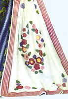 Vintage Crochet pattern-How to make a pretty flower motif throw,afghan,afgan