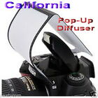 Universal Pop Up Flash Diffuser Soft Screen DSLR Nikon D3100 Canon 450 500 1000D