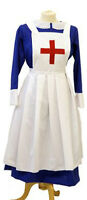 LARP-1940'S/VICTORIAN BLUE NURSE UNIFORM/MILITARY MATRON COSTUME ALL PLUS SIZES