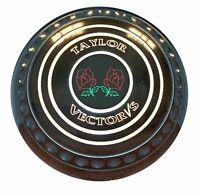 Taylor The Vector VS (progrip) Black Flat Green Bowls Set of 4 - 151