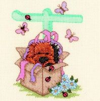 Popcorn Alphabet Counted Cross Stitch Kit PA39 Letter T