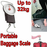 Travel Luggage Baggage Weighing Scale 32KG with 1M Tape Measure Compact Fishing
